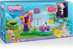 WowWee Fingerlings Reuzenrad speelset + aapje Mandy en mini eenhoorn Mel