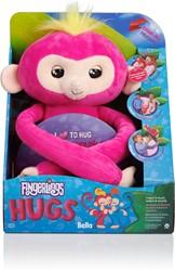 WowWee Fingerlings HUGS - BELLA - Interactieve aap knuffel - 40 cm