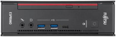 Fujitsu ESPRIMO Q958 2,40 GHz Intel® 8ste generatie Core™ i7 i7-8700T Zwart, Rood Mini PC-2