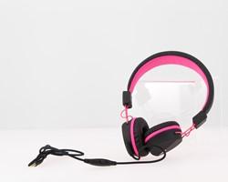 Kurio C18911GI koptelefoon Supraaural Hoofdband Zwart, Roze
