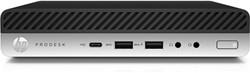 HP ProDesk 600 G4 2,3 GHz Intel® 8ste generatie Core™ i5 i5-8600T Zwart, Zilver Mini PC