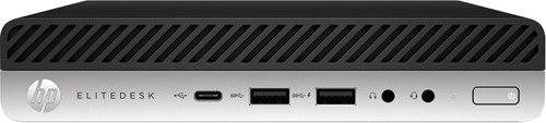 HP EliteDesk 800 G5 9th gen Intel® Core™ i5 i5-9500 8 GB DDR4-SDRAM 256 GB SSD Zwart, Zilver Mini PC