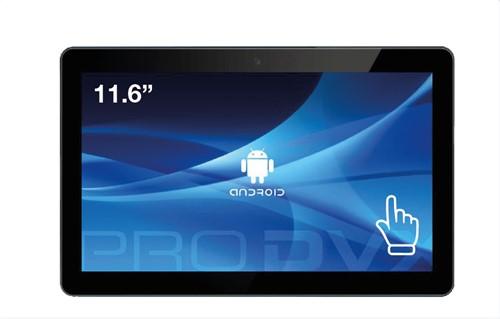 "ProDVX APPC-12DSKP 29,5 cm (11.6"") 1920 x 1080 Pixels Touchscreen Rockchip 2 GB DDR3-SDRAM 8 GB Flash Zwart All-in-One tablet PC"