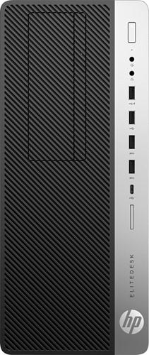 HP EliteDesk 800 G5 Intel® 9de generatie Core™ i7 i7-9700 8 GB DDR4-SDRAM 256 GB SSD Tower Zwart, Zilver PC Windows 10 Pro
