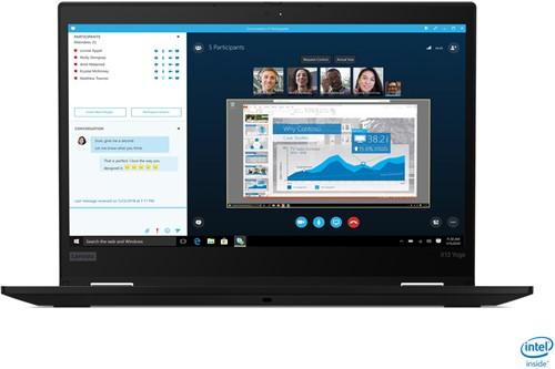 "Lenovo ThinkPad X13 Yoga Hybride (2-in-1) Zwart 33,8 cm (13.3"") 1920 x 1080 Pixels Touchscreen Intel® 10de generatie Core™ i7 16 GB DDR4-SDRAM 512 GB SSD Wi-Fi 6 (802.11ax) Windows 10 Pro"