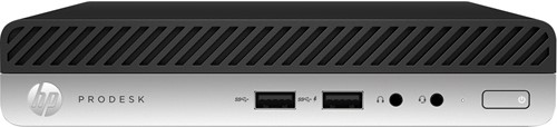 HP ProDesk 400 G5 Intel® 9de generatie Core™ i5 i5-9500T 8 GB DDR4-SDRAM 256 GB SSD Mini PC Zwart, Zilver Windows 10 Pro