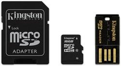 Kingston Technology 16GB Multi Kit 16GB MicroSDHC Flash flashgeheugen