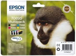 Inkcartridge Epson T0895 zwart + 3 kleuren
