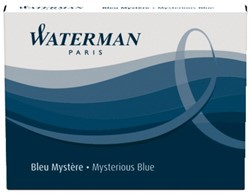 Inktpatroon Waterman internationaal blauw-zwart