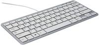 Ergonomisch toetsenbord R-Go Tools Compact Qwerty zilver-wit-1