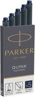 Inktpatroon Parker Quink permanent blauw/zwart-3