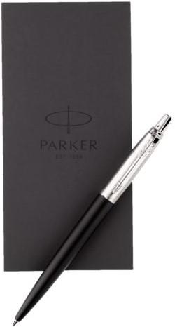 Balpen Parker Jotter bond street black + notitieboek blister-1