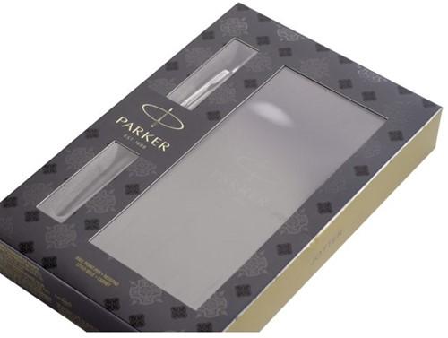 Balpen Parker Jotter bond street black + notitieboek blister-2