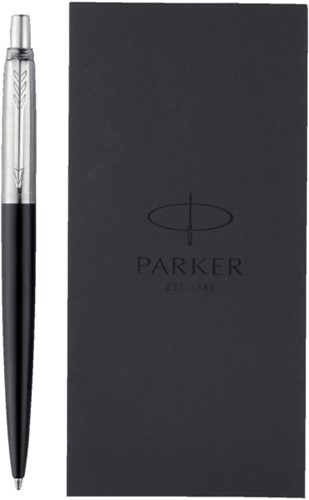 Balpen Parker Jotter bond street black + notitieboek blister-3