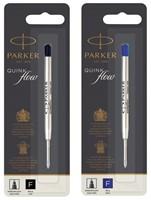 Balpenvulling Parker Quinkflow blauw fijn op blister-3