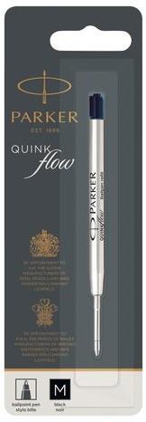 Balpenvulling Parker Quinkflow zwart medium op blister