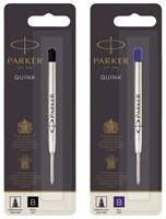 Balpenvulling Parker Quink zwart breed op blister-2