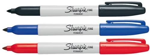 Viltstift Sharpie Fine rond blauw 1-2mm-2